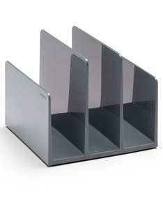 Poppin Inc Fin File Sorter Dark Gray