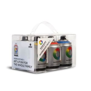 Montana Colors Water Based 100 Spray Paint Workshop Pack [Pack of 6]