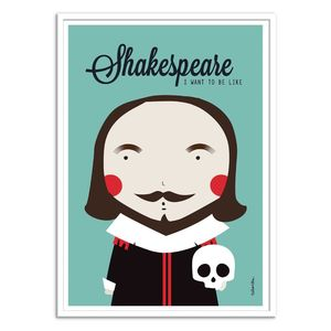 Shakespeare Art Poster by Ninasilla [30 x 40 cm]