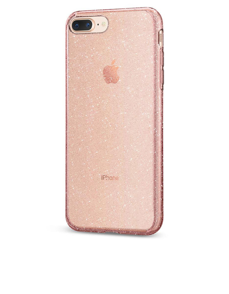 san francisco 74eab ae079 Spigen Liquid Crystal Case Glitter Rose Quartz For iPhone 8/7 Plus