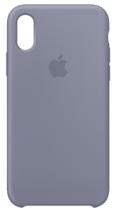 APPLE SILICONE CASE LAVENDER GREY FOR IPHONE XS