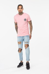 Hype Gridworks Men's T-Shirt Pink