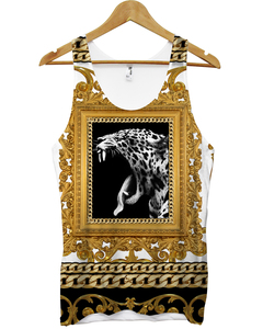 Royal Leopard All Over White  Vest Unisex T-Shirt