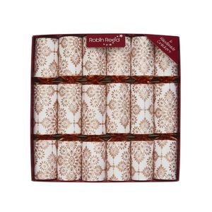 Robin Reed Mayfair Rose Gold Glitters Christmas Crackers [Set of 6]