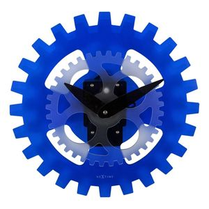 Nextime Moving Gears Wall Clock Blue