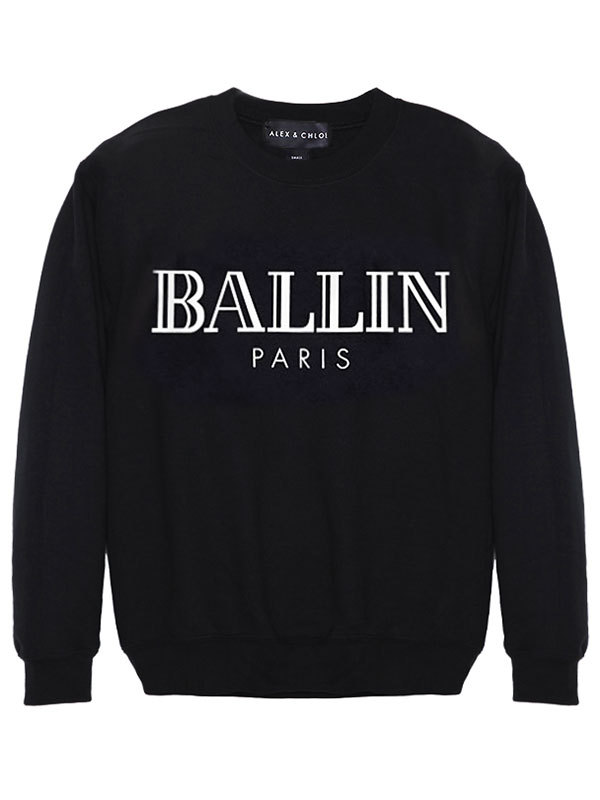 Alex & Chloe Ballin Paris Black/White Unisex Jumper