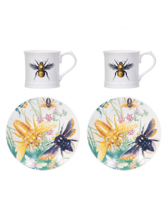 Magpie Curios Espresso Set Bee [Set of 2]