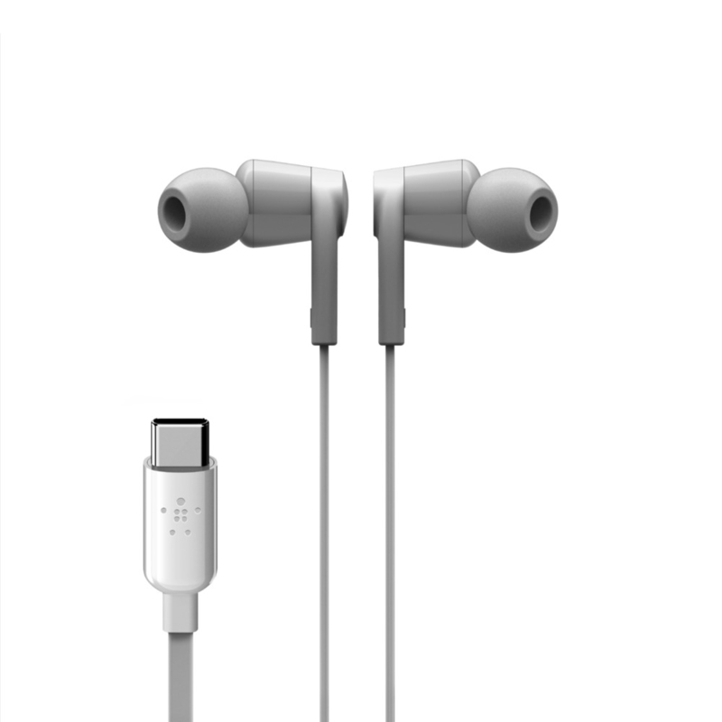 Belkin Rockstar White In-Ear Earphones with USB-C Connector