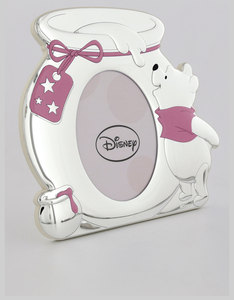 Disney Winnie The Pooh Pot Photo Frame Silver/Pink [10x15cm]