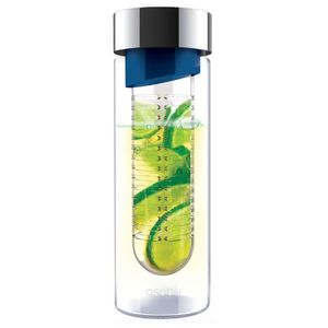 Asobu Flavour It Blue/Silver Bottle with Fruit Infuser