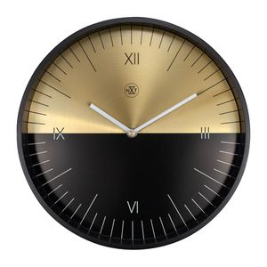 Nextime Half  Wall Clock Black/Gold