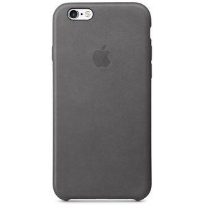 Apple Leather Case Storm Grey iPhone 6/6S