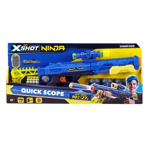 X-Shot Ninja Quick Scope Blasters [Includes 3 Cans + 12 Darts]