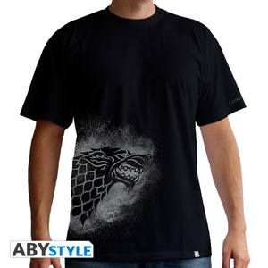 Abystyle Game Of Thrones Stark Spray Black Men's T-Shirt L