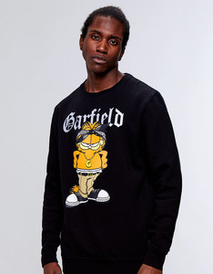 Cayler & Sons WL Left Side Garfield Crewneck Sweatshirt Black