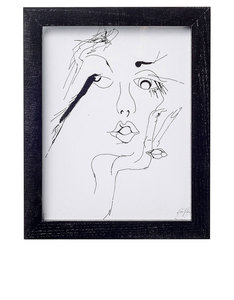 Bloomingville Sketched Woman 2 Frame Black