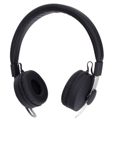XQisit Bh100 Black Bluetooth Over-Ear Headphones