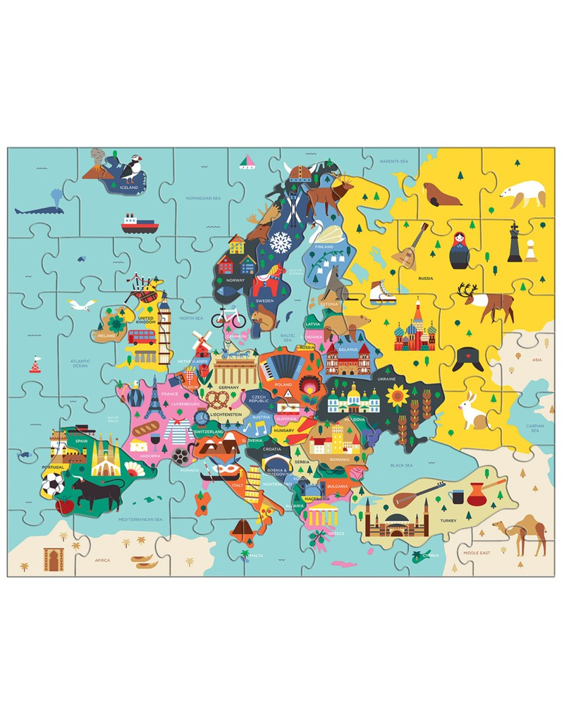 Mudpuppy Map of Europe Puzzle | Kids Puzzles | Puzzles | Games + ...