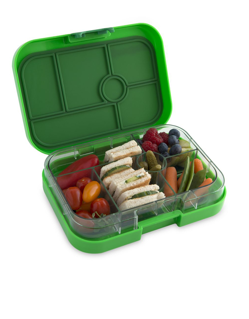 yumbox kerry green original lunchbox 6 compartments lunch boxes lunch bento boxes. Black Bedroom Furniture Sets. Home Design Ideas