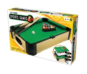 "Merchant Ambassador 20"" 3-in-1 Sports Games Tabletop   Pool + Ping Pong + Slide Hockey"