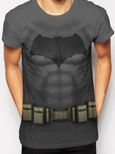 CID Batman Sublimated Costume Men's T-Shirts White