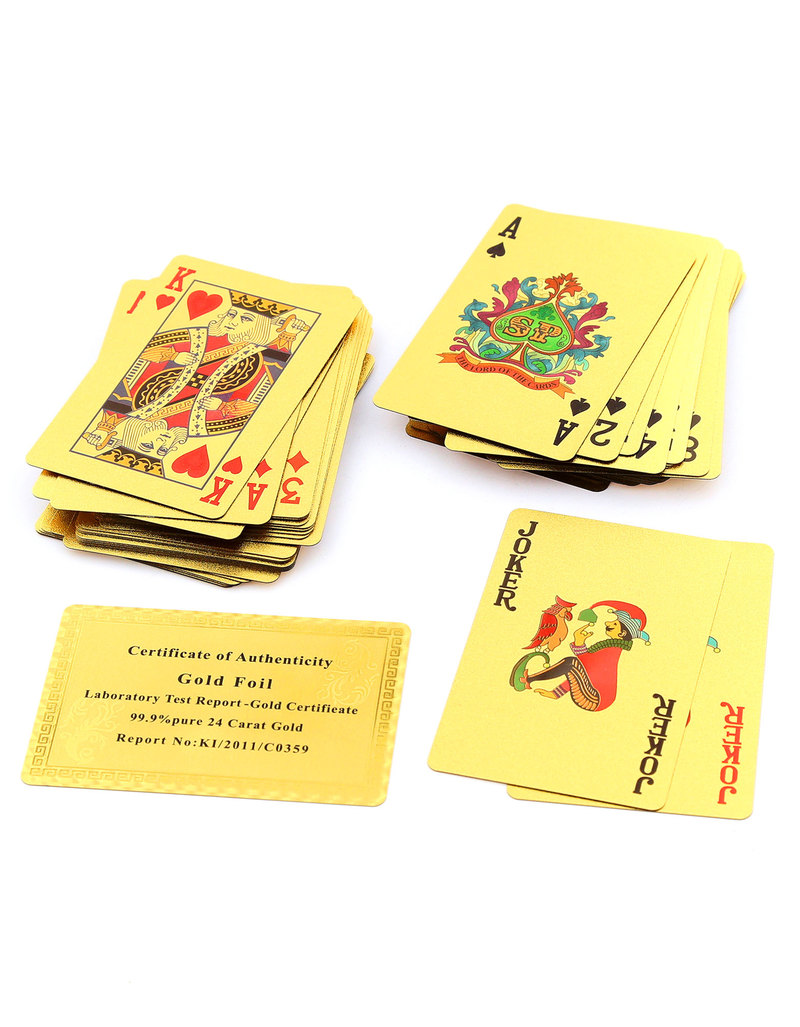 50 Pounds Gold Foil Plated Playing Cards