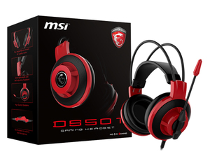 MSI Ds501 Black Gaming Headset