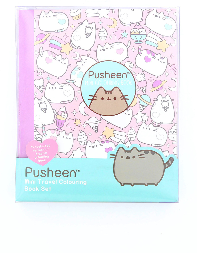 Blueprint pusheen travel colouring book set art supplies arts blueprint pusheen travel colouring book set malvernweather Image collections