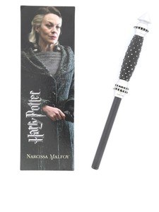 Noble Collection Harry Potter Narcissa Wand Pen & Bookmark