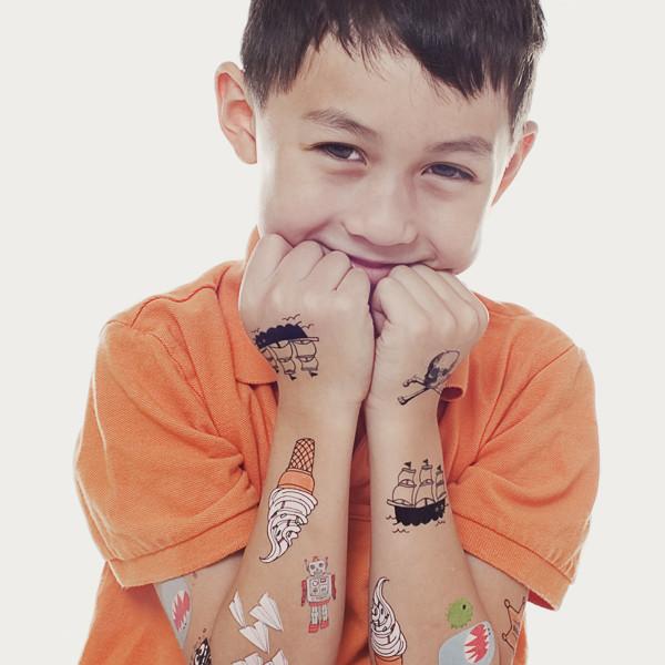 60f1129f9b386 Tattly Kids Mix 1 Temporary Tattoo Set | Temporary Tattoos | Beauty ...