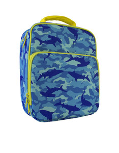 Bentology Shark Camo Lunch Tote With Side Pocket