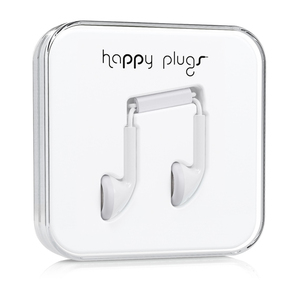 Happy Plugs White Earphones