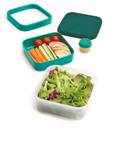 Joseph Joseph GoEat 3-In-1 Salad Box Teal