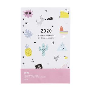 kikki.K 2020 Cute Monthly Weekly Diary Refill Lge Be Kind White
