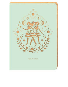 Portico Design Gemini Zodiac Mint A6 Notebook