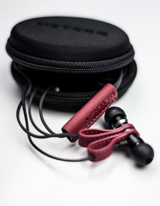 Meters Magnetics Red Leather Wired In-Ear Earphones