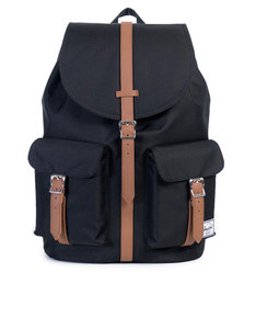 Herschel Dawson Black/Tan Synthetic Leather Backpack