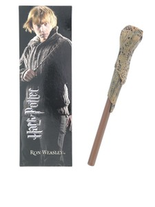 Noble Collection Harry Potter Ron Weasley Wand Pen & Bookmark