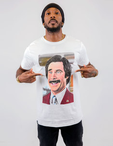 Dedicated Ron Burgundy San Diego White T-Shirt