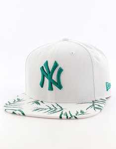 New Era Sandwash Visor Print NY Yankees Optic White/Dark Green Cap