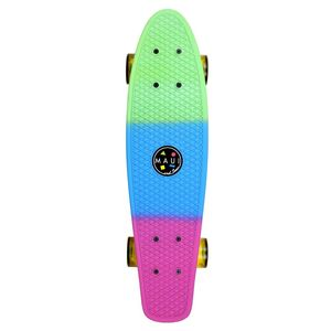 Maui and Sons Plastic Kicktail Skateboard in Rainbow