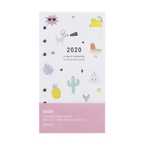 kikki.K 2020 Cute Monthly Weekly Diary Refill Med Be Kind White