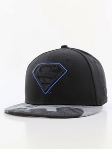 New Era Character Outline Superman Youth Boys Cap Black