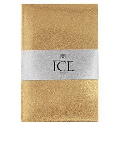 Ice London Glitter Notebook Gold