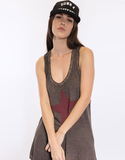 Vintage Star Tank Brown Women's T-Shirt