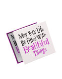 May Your Life Be Filled W/Beautiful Things Glass Tray