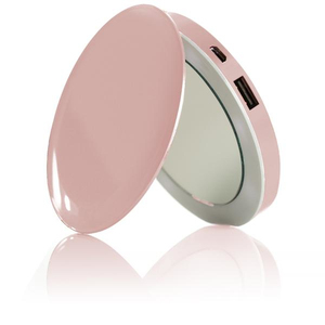 Hyper Pearl Compact Mirror Rose Gold + 3000mAh Power Bank