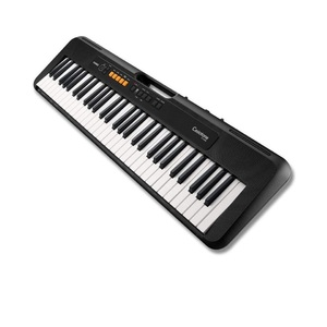 Casio CTS-100 61-Key Portable Electric Keyboard Black + ADE95100LE Power Adapter