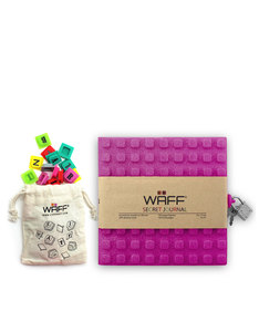 Waff Glitter Secret Diary Combo Fuschia Notebook