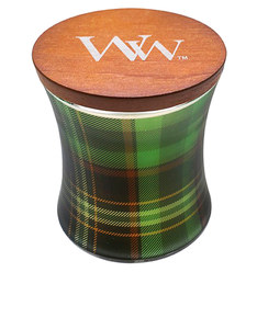 Woodwick Holiday Plaid Hourglass Frasier Fir Candle